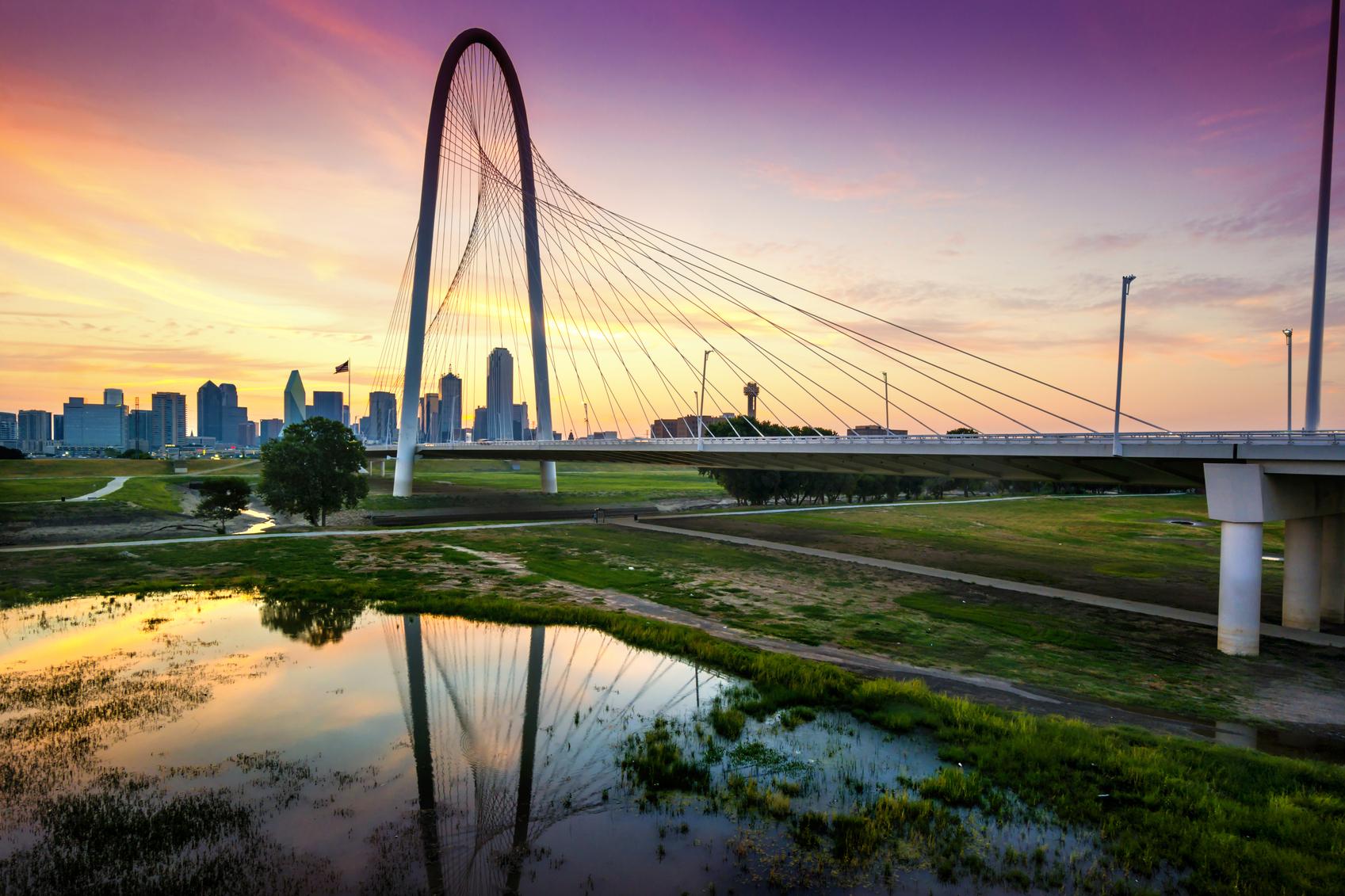 Dallas at sunrise. Texas